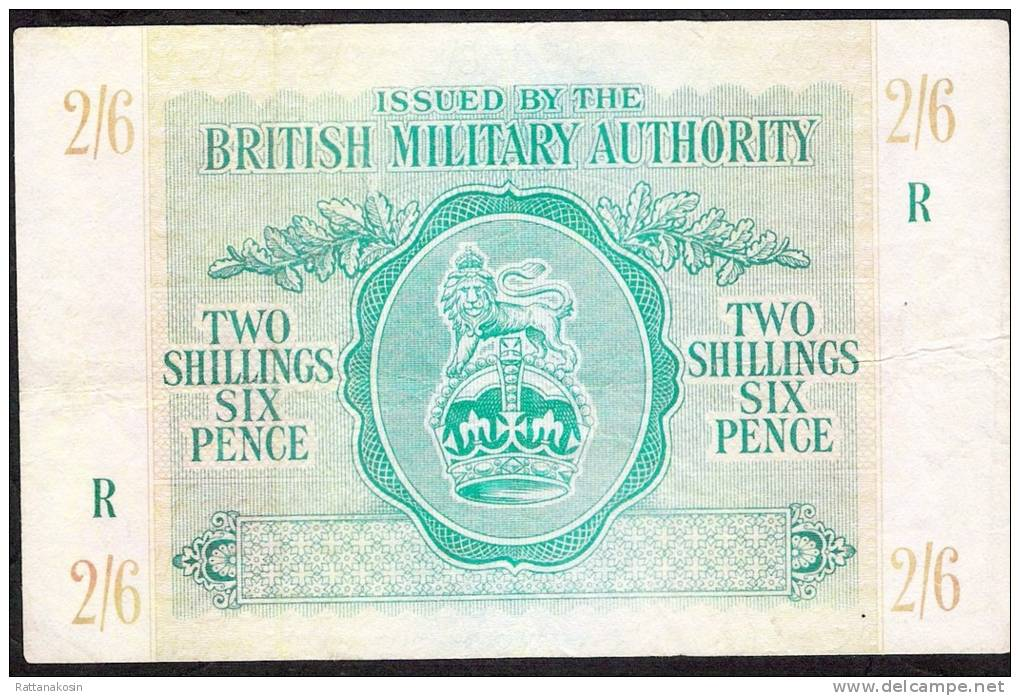 GREAT BRITAIN PM3  2  SHILLINGS 6 PENCE  1943  XF - Emissioni Militari