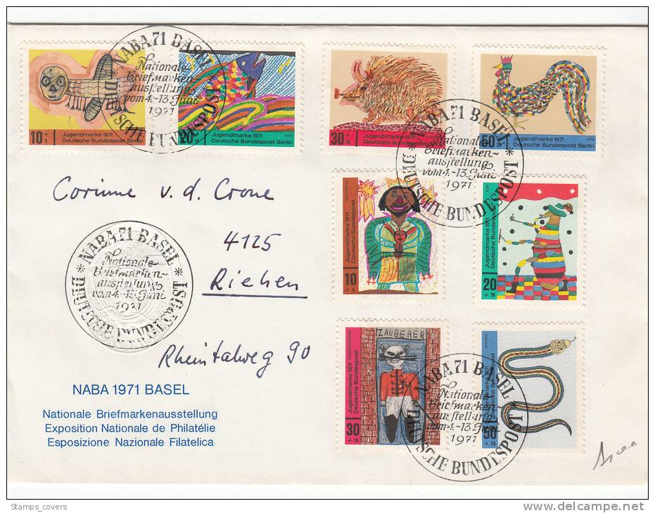 BUND USED LETTER 1971 BASEL NABA - Covers & Documents
