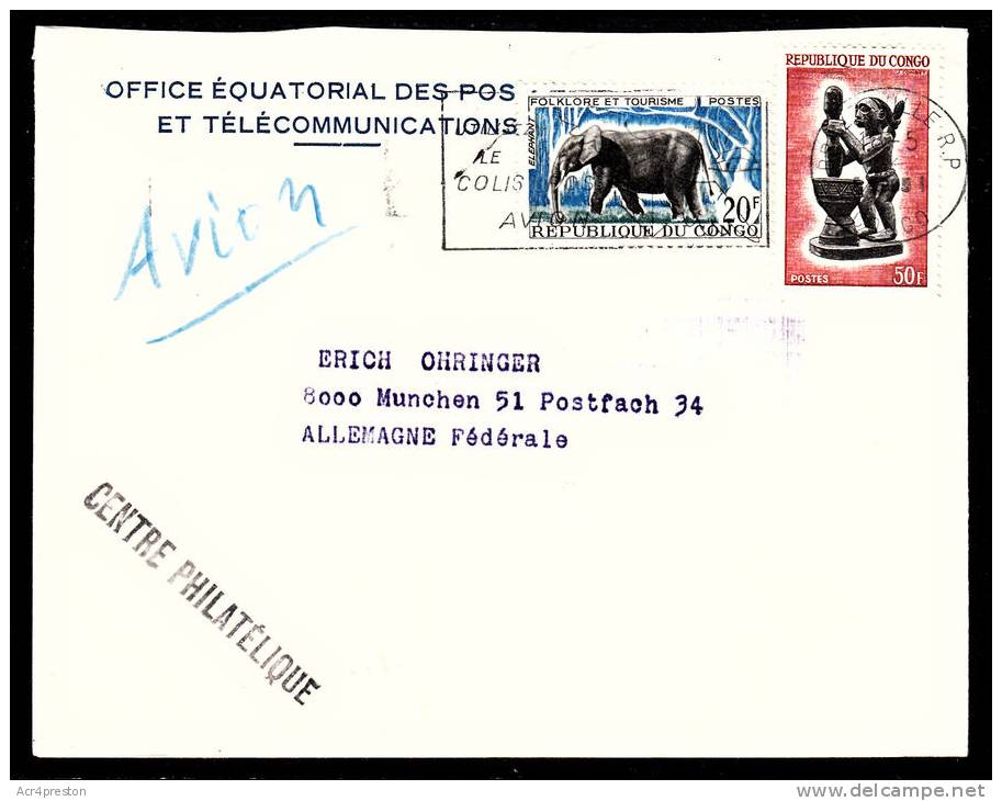 A5159 CONGO (BRAZZAVILLE) 1985 Cover,Brazzaville To Germany - Congo - Brazzaville