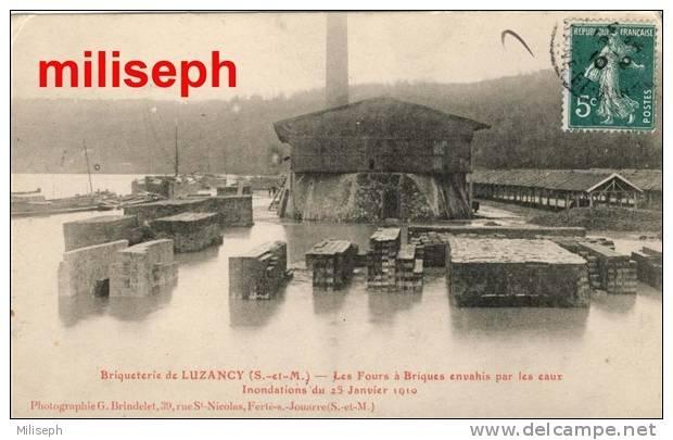 Briqueterie De LUZANCY ( Seine-et Marne ) Les Fours à Briques Envahiis Par Les Eaux -  Inondations 1910  (3268) - Meaux