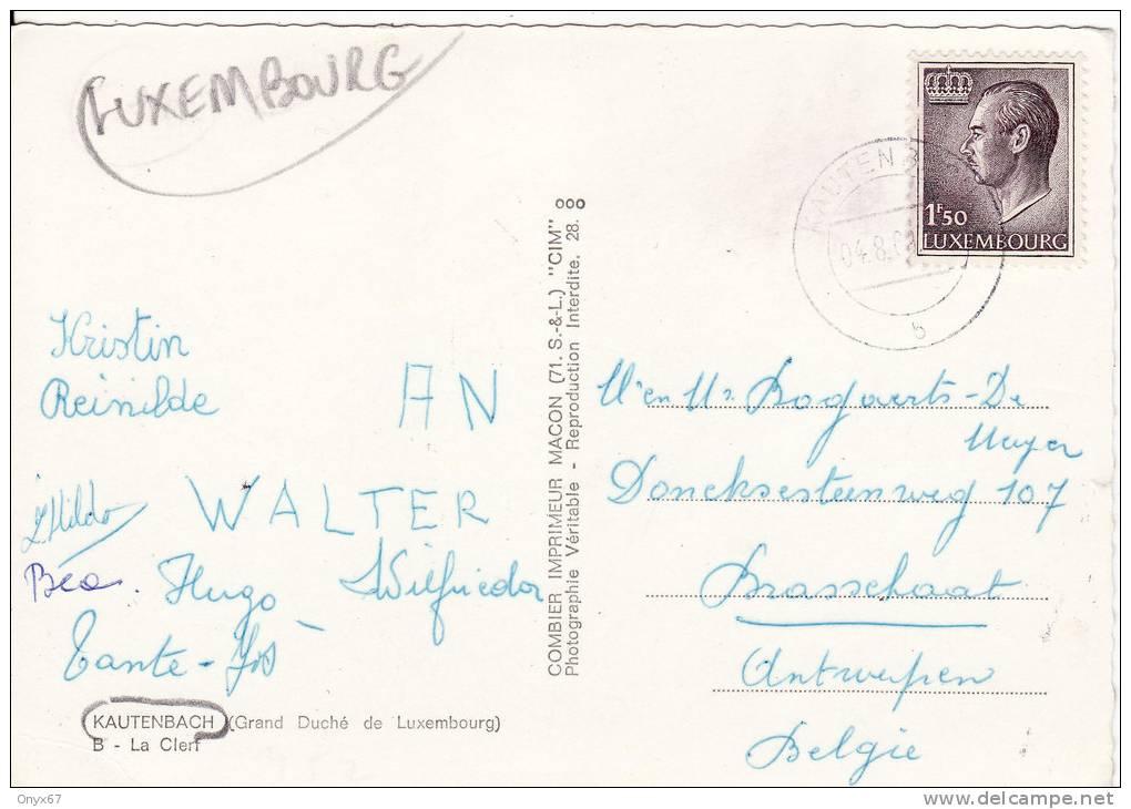 KAUTENBACH (Luxembourg) - La Clerf - Eglise - Pont- Rue Du Village- Carte GRAND FORMAT- VOIR 2 SCANS - - Cartes Postales