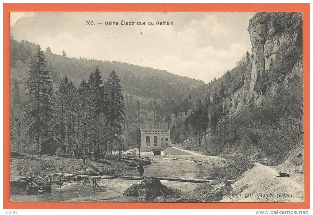 W217, Usine Electrique Du Refrain, Frontière Franco - Suisse, Le Doubs, 765, Non Circulée - France