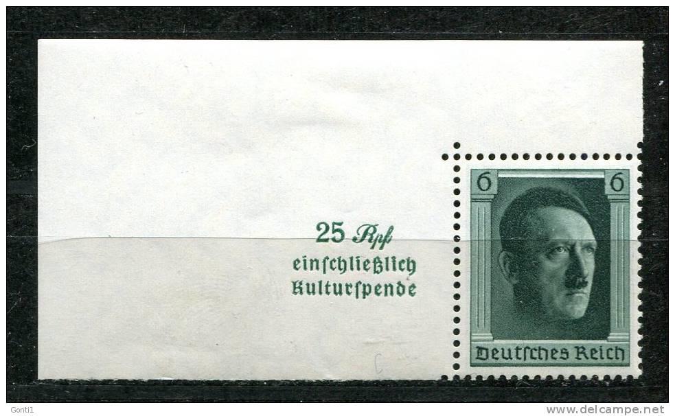 "German Empires ,DR 1937 Mi.Nr. 648 Aus Bl.9 ""48. Geb. A.H.-Kulturförderung "" 1 Blockauschnitt **,MNH Postf.-mint - Unused Stamps"