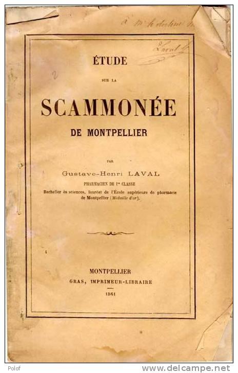 SANTE - Etude Sur La SCAMMONEE De Montpellier Par Gustave Henri Laval (dédicace) (VP623) - Livres, BD, Revues