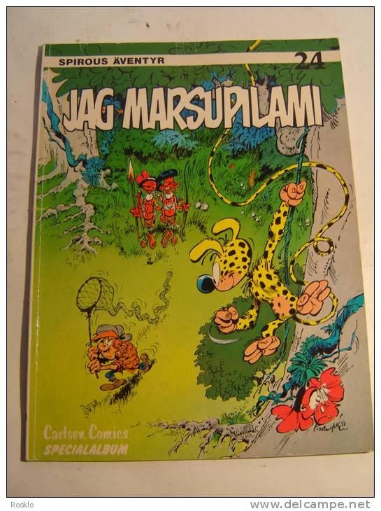 BD / SUEDE / SPIROU AVENTYR N° 24 / JAG MARSUPILAMI / ED CCALSEN 1982 - Books, Magazines, Comics
