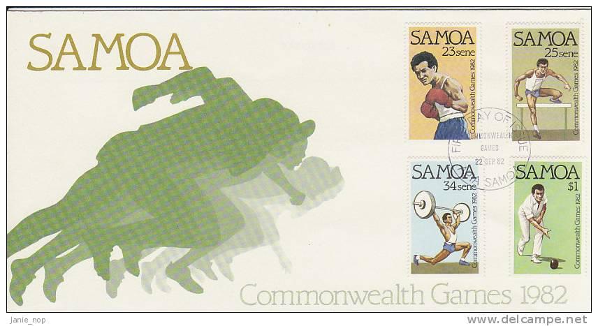 Samoa 1982 Commonwealth Games FDC - Samoa