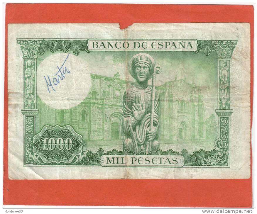 ESPAGNE ESPANA 1000 PESETAS 1965 N° X4593759 - [ 3] 1936-1975: Regime Van Franco