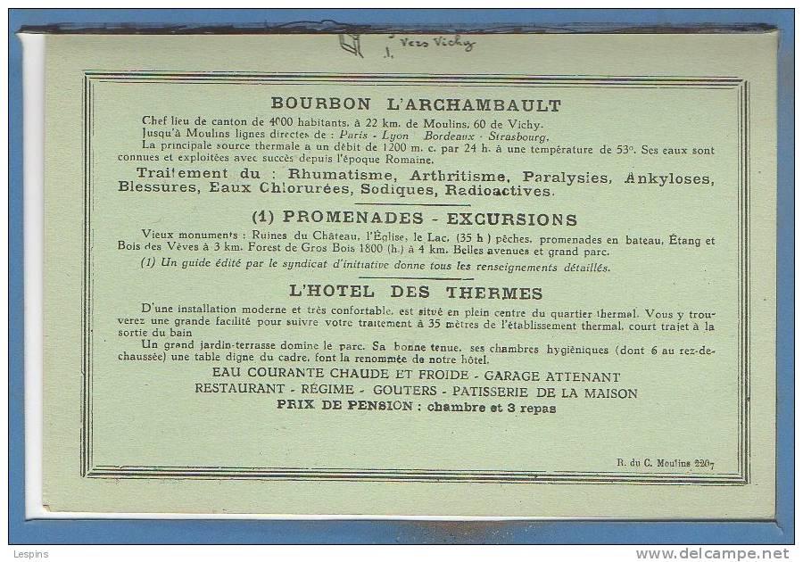 03 - BOURBON L´ARCHAMBAUL -- Carte Double - Bourbon L'Archambault