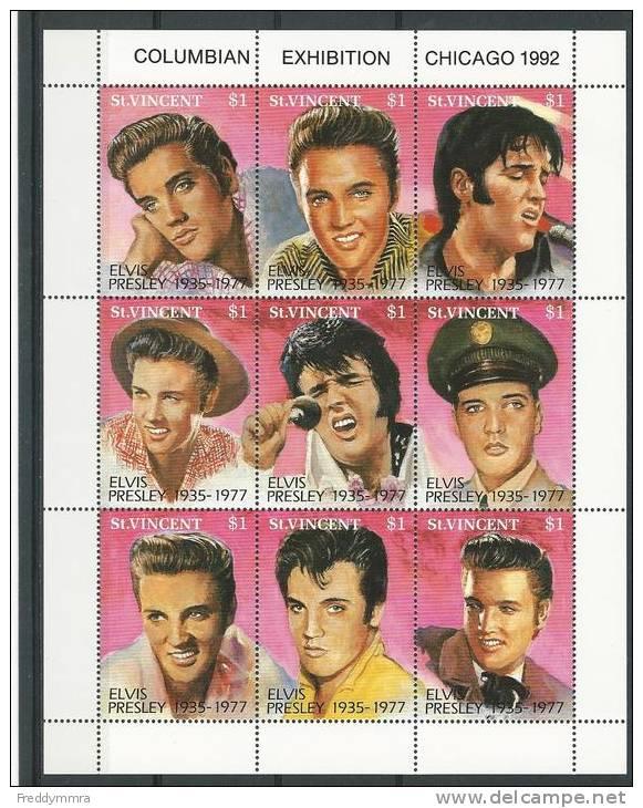 St Vincent: 1480/ 1488    En Feuillet **  (Elvis Presley) - Elvis Presley