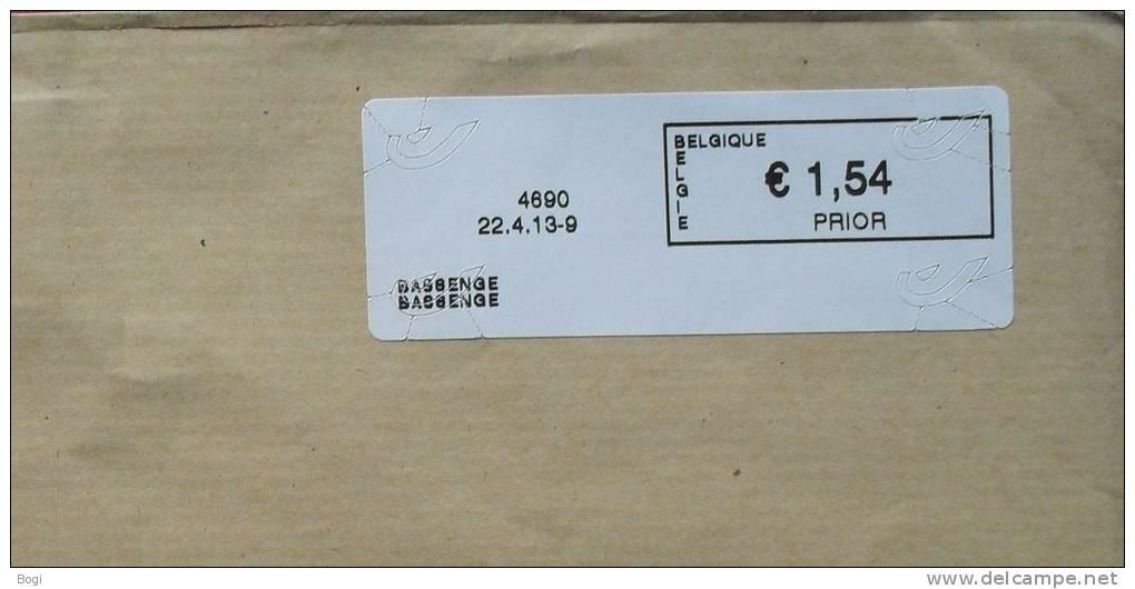 België 2013 Bassenge 4690 - Logo Bpost (fragment) - Vignettes D'affranchissement
