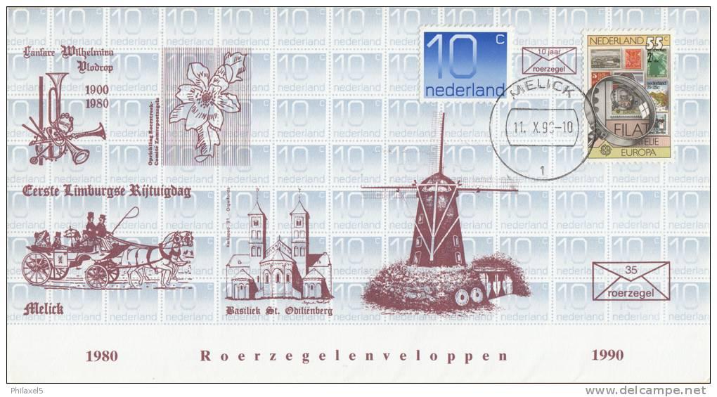 Nederland - Roerzegelenveloppe 35 - Roerzegelenveloppen 1980 - 1990 - Melick 11 Oktober 1990 - Oplage 800/123 - Postal History