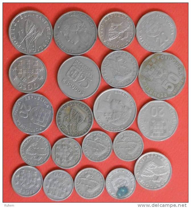 PORTUGAL        21 COINS   -    (2160) - Monedas & Billetes