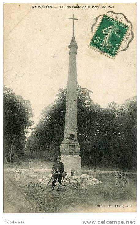 CPA 53 AVERTON LA PYRAMIDE DE LA FORET DE PAIL 1911 - Other Municipalities