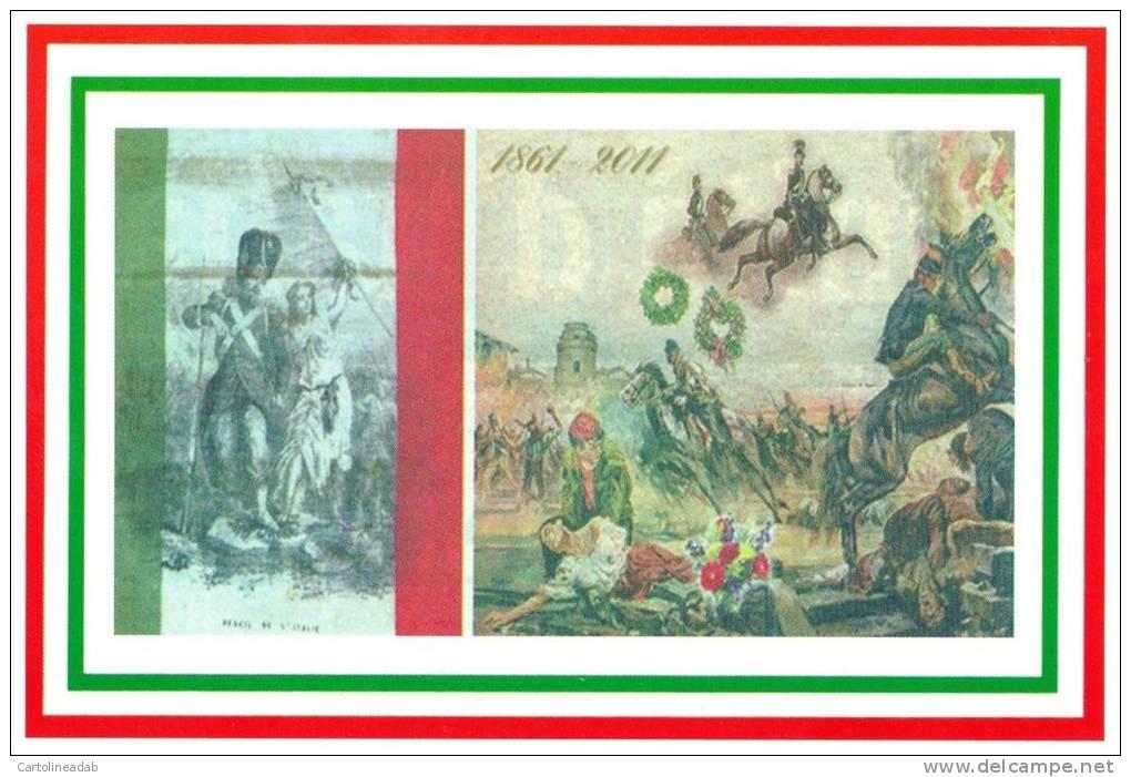 [DC1468] CARTOLINEA - 150 ANNI DELL´UNITA´ D´ITALIA - LE REVEIL DE L´ITALIE 1861 - Manifestazioni