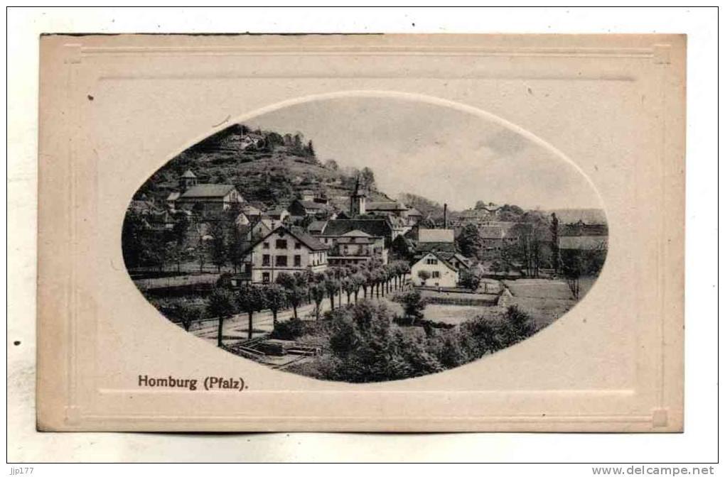 Allemagne Pfalz Homburg Hombourg Vue Sur Le Village Blick Auf Das Dorf Verlag Von C Schramm's Nachf Inh Eugen Becker - Saarpfalz-Kreis