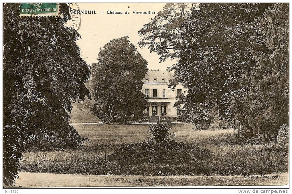 ~  51  ~    VERNEUIL .  CHATEAU DE VERNOUILLET .      Cp Bien Sypma Et Pas Chère - France