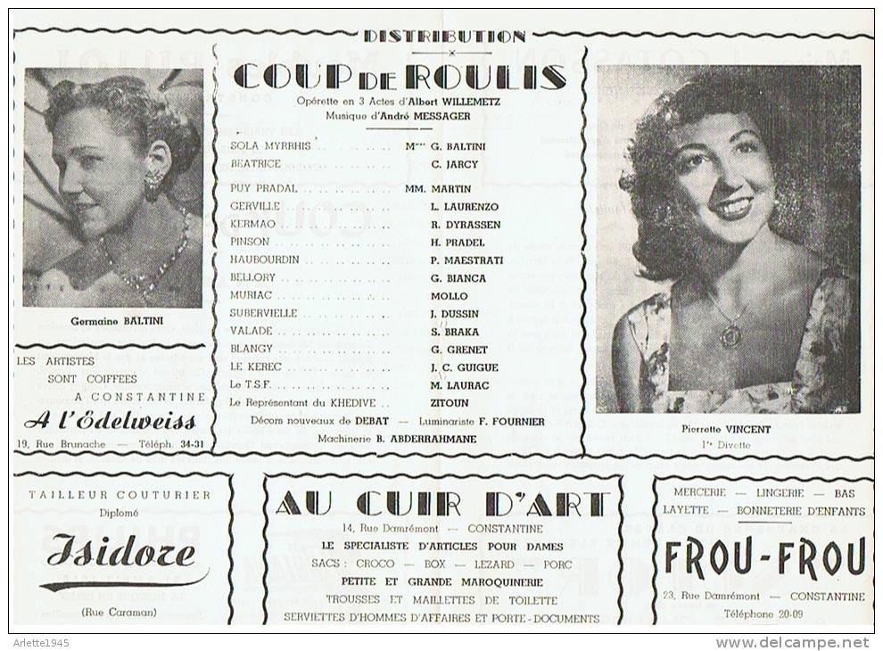 CONSTANTINE       OPERETTE En 3  ACTES    COUP De  ROULIS - Cassettes Beta