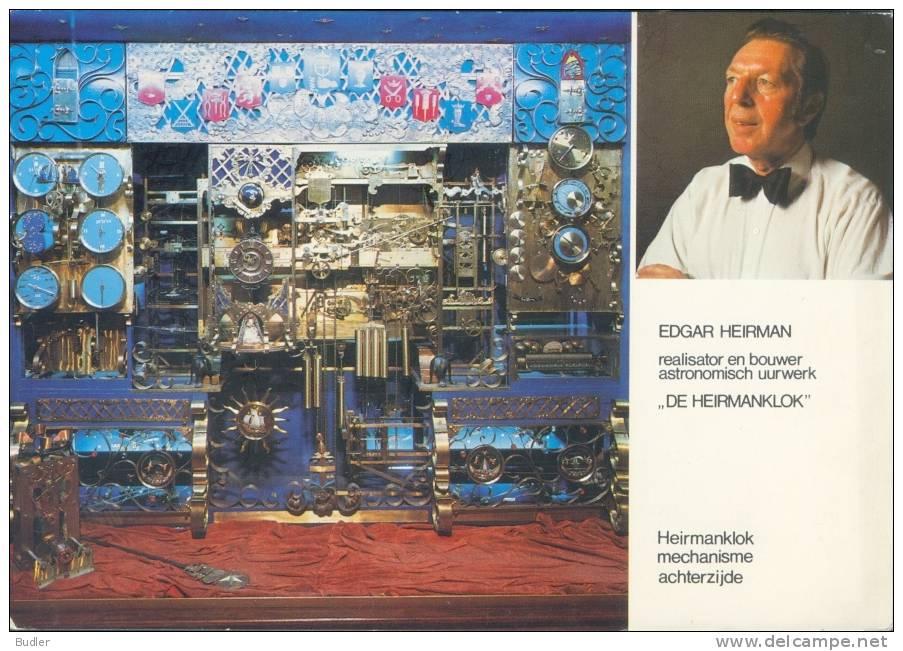 Postkaart / Carte Postale / Postcard : ##DE HEIRMANKLOK## :  Edgar HEIRMAN,ASTRONOMIE,STEKENE,St-NIKLAAS, - Astronomy