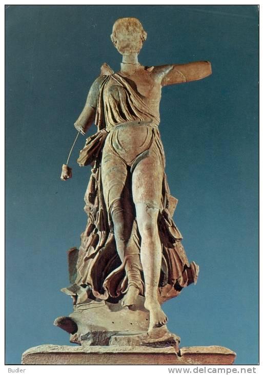 HELLAS/GREECE : Postkaart / Carte Postale / Postcard: Museum Of OLYMPIA:## The NIKE Of Paeonios ##:ARCHEOLOGY,MYTHOLOGY, - Ancient World