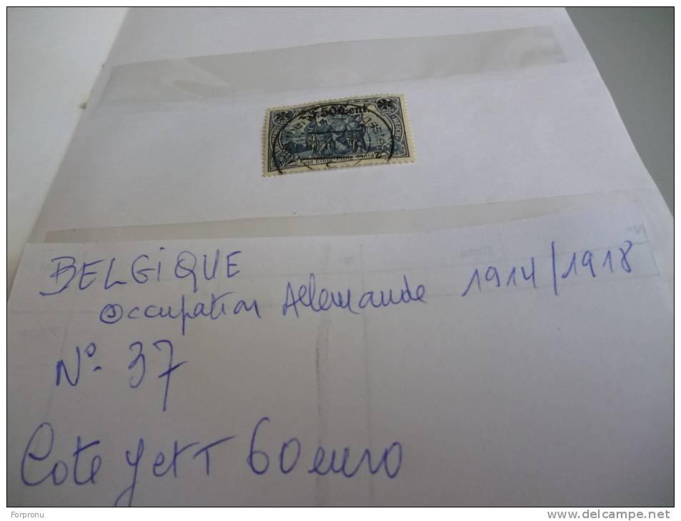 ALLEMAGNE  N° 37 De L'OCCUPATION EN BELGIQUE GUERRE 14/18 - Germany