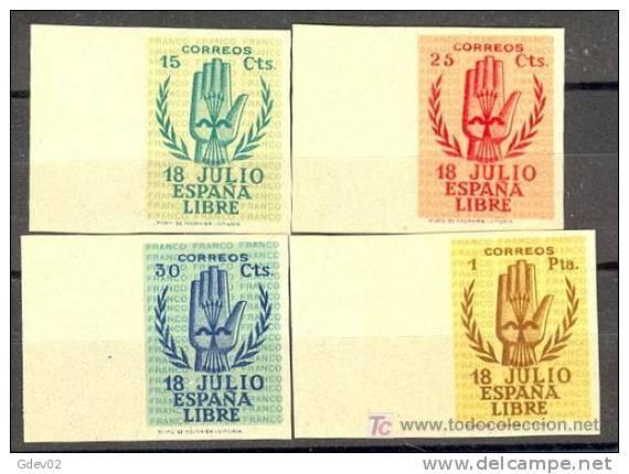 ES851-L2143TO.España.Spai N  Espagne. ANIVERSARIO ALZAMIENTO (Ed 851/4s**).CERTIFICADO..LU JO - 1931-50 Nuevos & Fijasellos