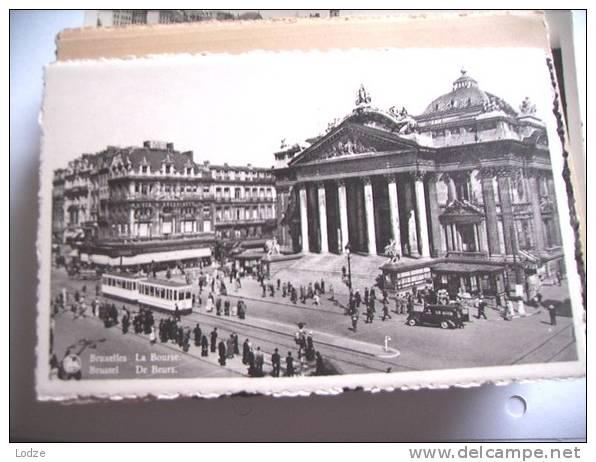 Belgique België Brussel Bruxelles De Beurs En Tram - Vervoer (openbaar)