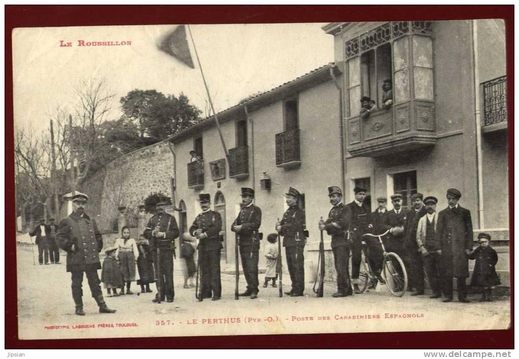 Cpa  Du 66  Le Perthus  Poste Des Carabiniers  Espagnols   PUO16 - France