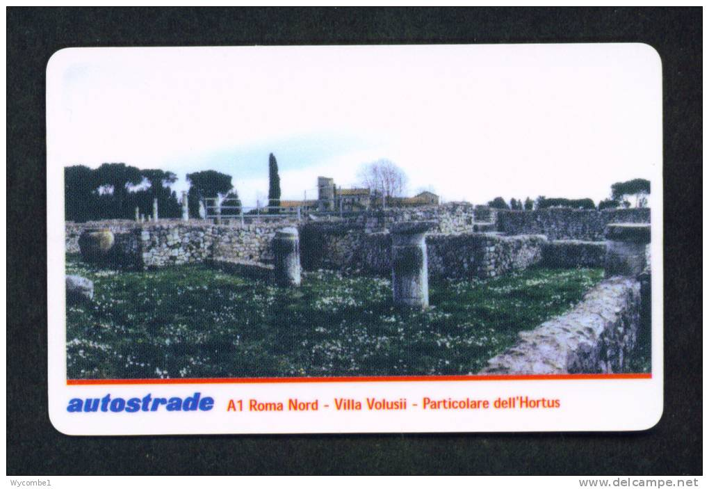 ITALY - Autostrada (Motorway) Toll Card As Scan - Cars