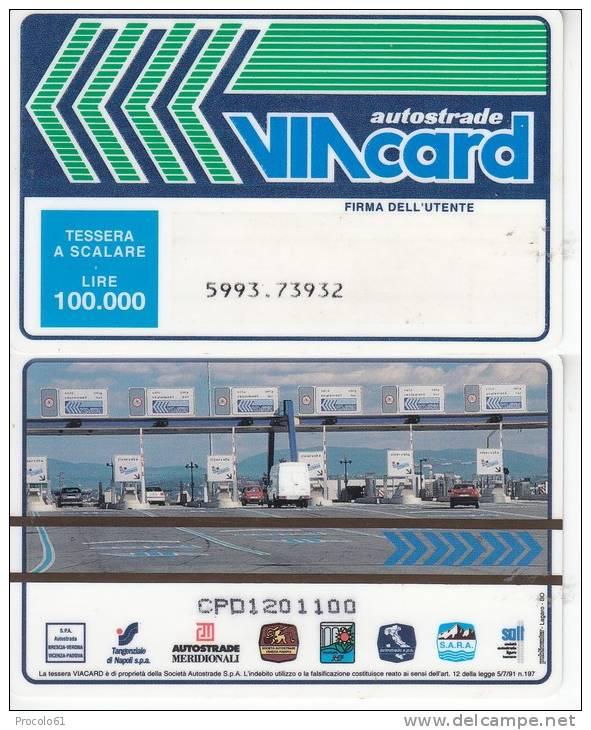 VIACARD 100.000 100000 Lire Us. CASELLO - Non Classificati