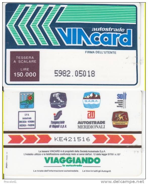 VIACARD 150.000 150000 Lire Us. - Non Classificati