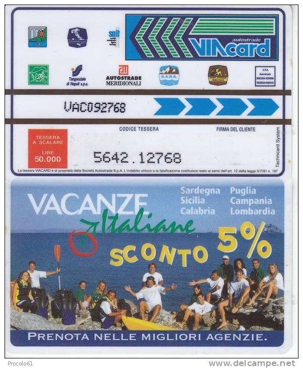VIACARD 50.000 50000 Lire Us.VACANZE ITALIANE - Non Classificati