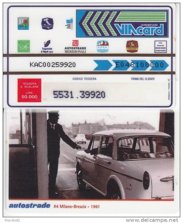 VIACARD 50.000 50000 Lire Us.A4 1961 - Non Classificati