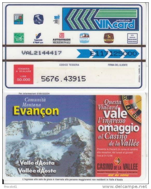 VIACARD 50.000 50000 Lire Us.EVANCON - Non Classificati