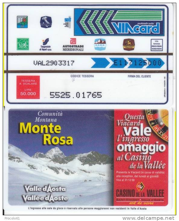 VIACARD 50.000 50000 Lire Us.MONTE ROSA - Non Classificati