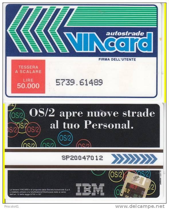 VIACARD 50.000 50000 Lire Us.OS/2 IBM - Non Classificati