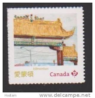 CANADA, 2013  MNH #2643d,  CHINATOWN  GATES IN CANADA:    EDMONTON  GATE  MNH - Carnets