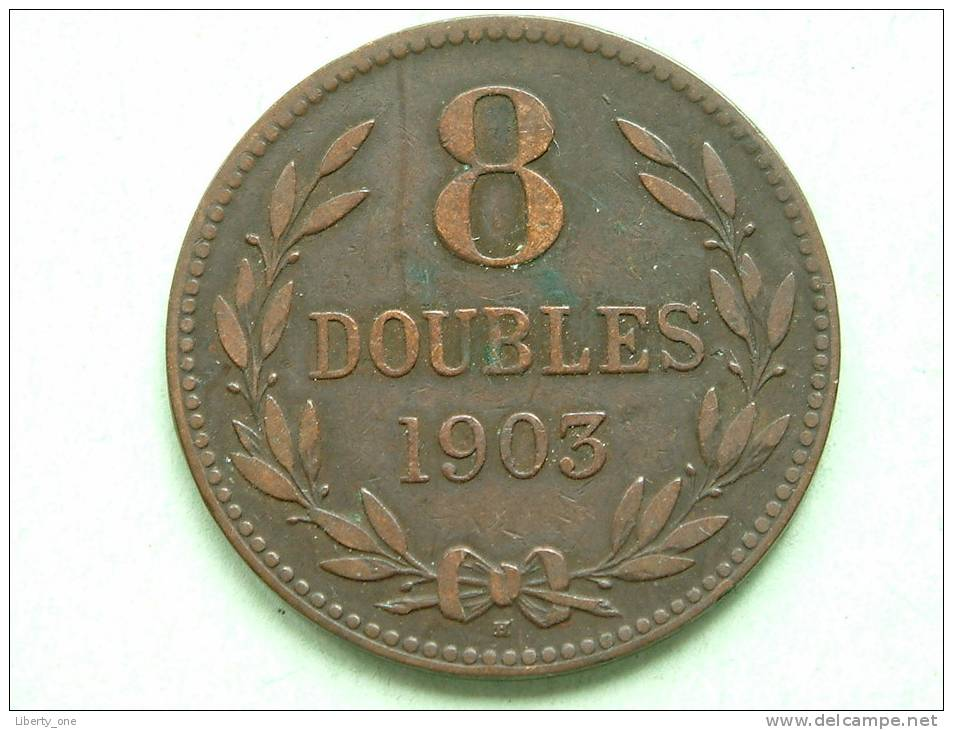1903 H - 8 DOUBLES / KM 7 ( For Grade, Please See Photo ) !! - Guernesey
