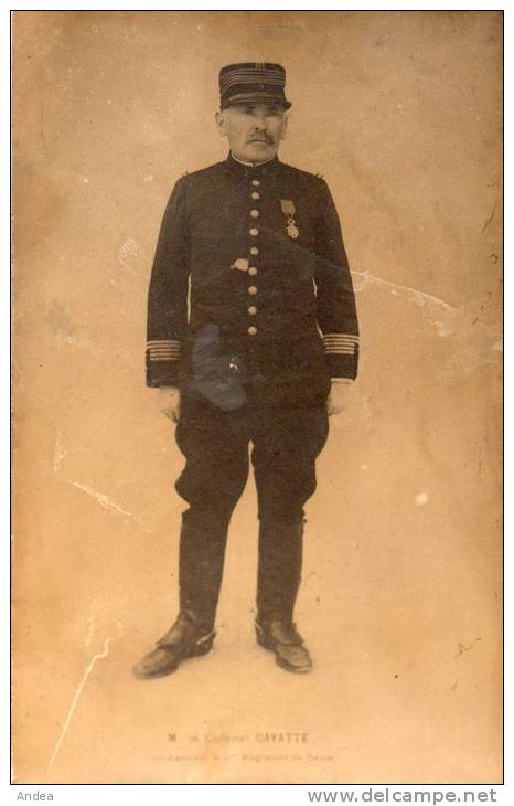 PHOTO  MONTPELLIER...  2° GENIE.. COLONEL CAYATTE..1909/1913....PRI X: 2,99 € - Guerre, Militaire