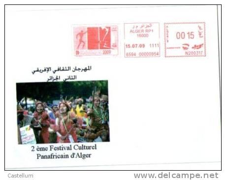 ALGERIE Marcophilie - Flamme Du 2 Eme Festival Culturel Panafricain D'Alger-2009 - Algérie (1962-...)