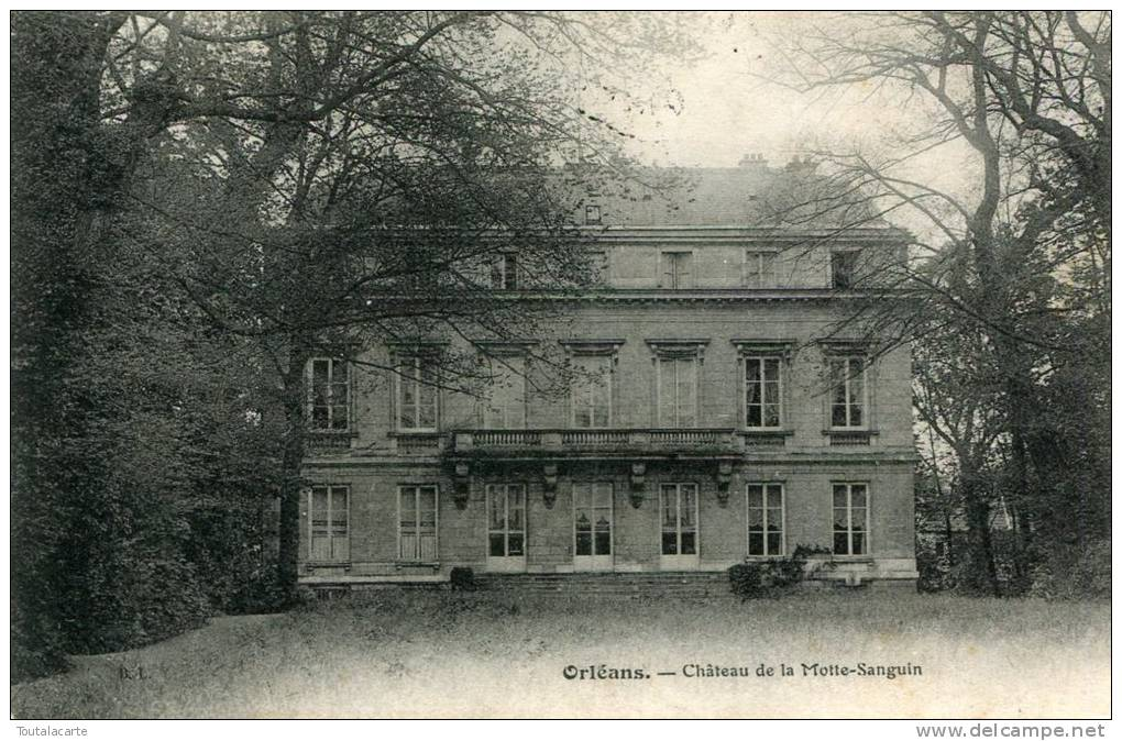 CPA 45 ORLEANS CHÂTEAU DE LA MOTTE SANGUIN 1910 - Orleans