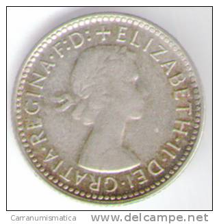 AUSTRALIA SIXPENCE 1962 AG - Moneta Pre-decimale (1910-1965)