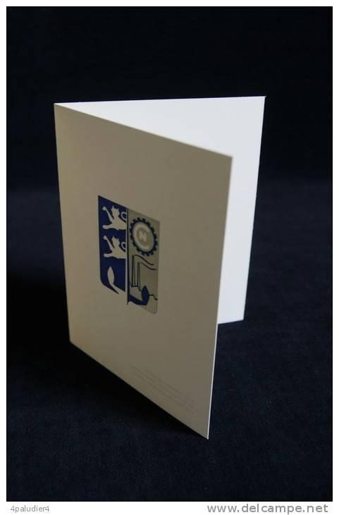 LES CHANTIERS DE NORMANDIE Société Dubigeon-Normandie Le Hâvre Grand-Quevilly Dieppe Carte De Voeux 1960 - Publicités