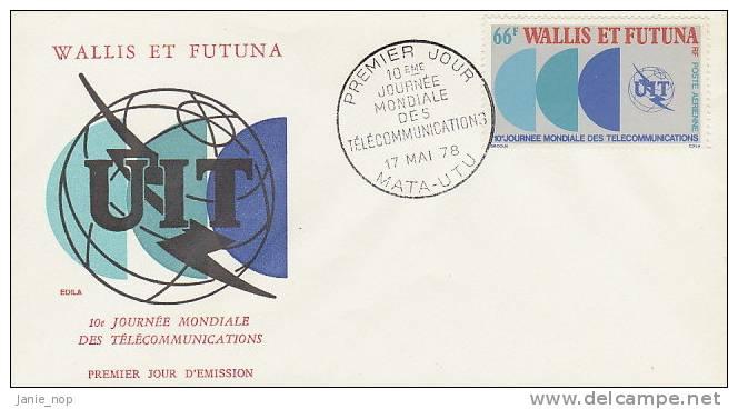 Wallis And Futuna 1978 10th World Telecommunication Day FDC - FDC