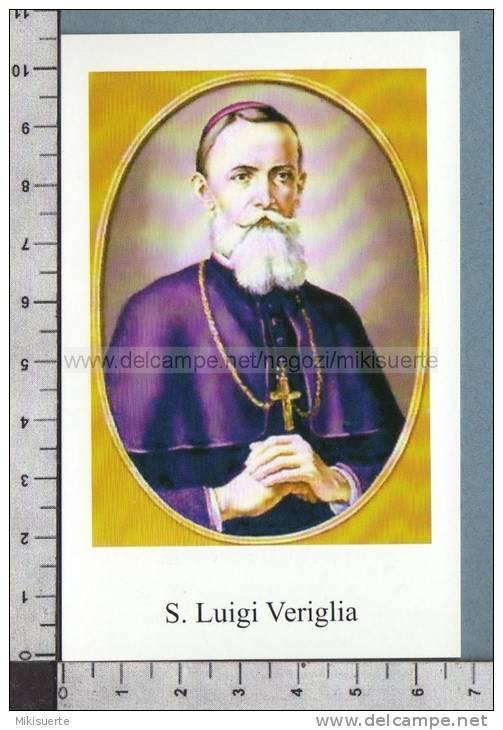 Xsb1032 SAN LUIGI VERIGLIA MONSIGNOR OLIVA GESSI PAVIA Santino Holy Card - Religion & Esotericism