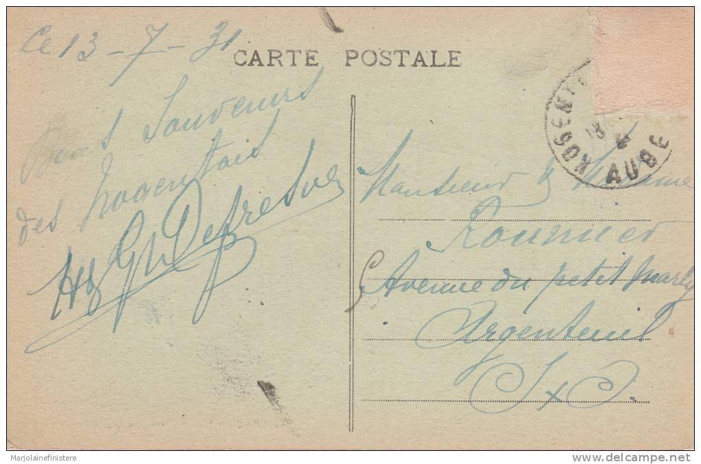 Dép. 10 - NOGENT-sur-SEINE. - Mon Buisson. Collection Birrer. Voyagée 1931. - Nogent-sur-Seine