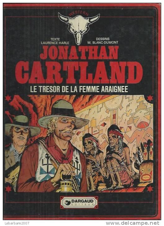 """JONATHAN CARTLAND  """" LE TRESOR DE LA FEMME ARAIGNEE """"  - HARLE / BLANC-DUMONT  - E.O.  1978  DARGAUD - Jonathan Cartland"""