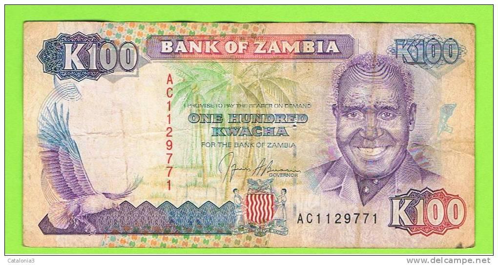 ZAMBIA -  100  Kwacha  ND Circulado  P-34 - Zambie
