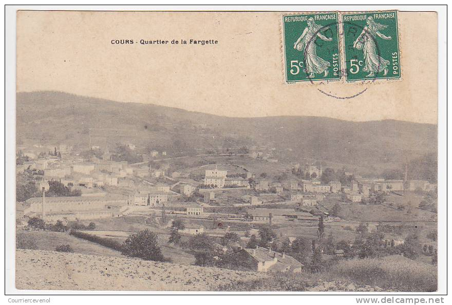 CPA - COURS (Rhône) - Quartier De La Fargette - France