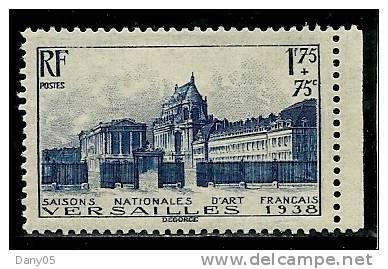 France - Année 1938 - Y & T  N° 379 * TTB  TC Quasi Invisible Voir Scan - Unused Stamps