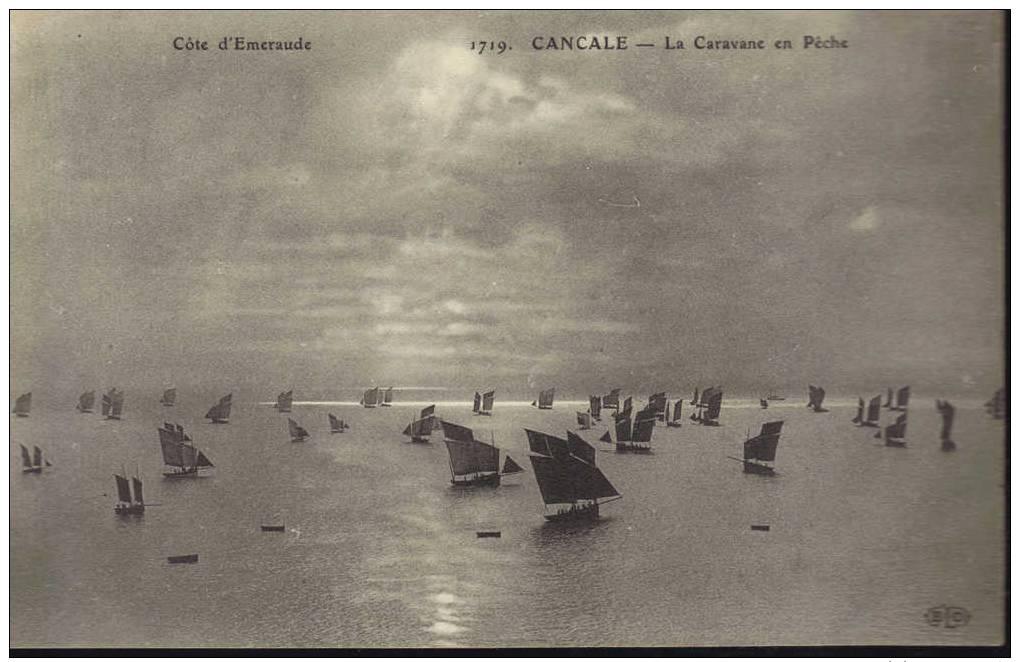 CPA Cancale: La Caravane En Pêche. - Cancale